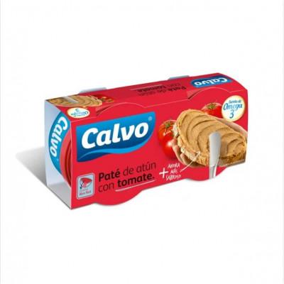1+1 CALVO - PATE DE TON CU ROSII 2X75G