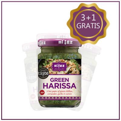 Pachet Pasta Harissa Green 3+1 GRATIS, Al`Fez, 100g
