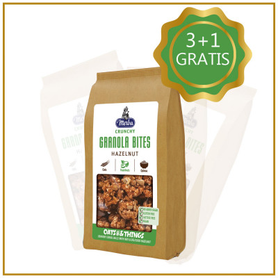 Pachet Snack Crunchy Grenola cu alune 3+1 GRATIS , Merba, 125g