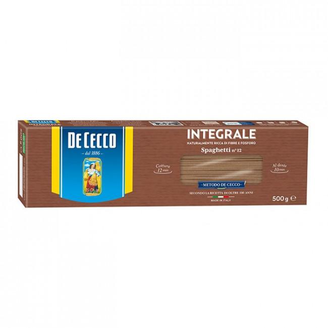Paste Spaghetti Integrali, De Cecco, 500g