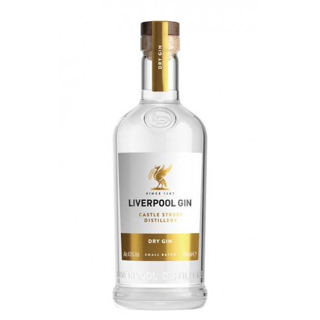 Gin, Liverpool Organic, 43% alc., 0,7L
