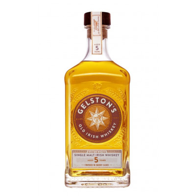 Whiskey Single Malt Irish 5 years, Gelston's, 41,2% alc., 0,7L