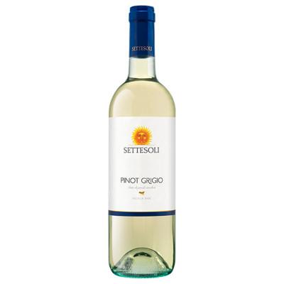 Vin alb Pinot Grigio Sicilia DOC, Settesoli, 0,75L