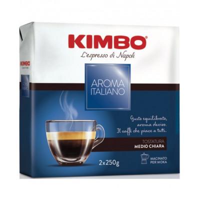 Cafea macinata Aroma Italiano Duo Pack, Kimbo, 2x250g