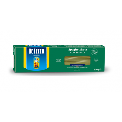 Paste Spaghetti cu Spanac, De Cecco, 500g