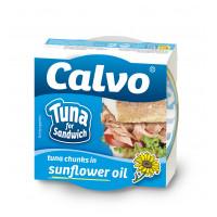 Ton pentru sandvis in ulei vegetal, Calvo, 142g