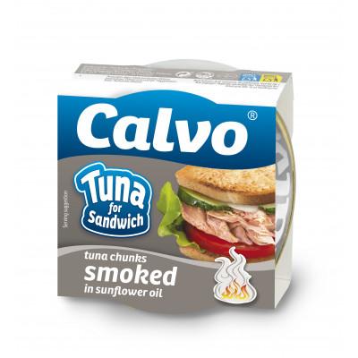 Ton afumat pentru sandvis, Calvo, 142g
