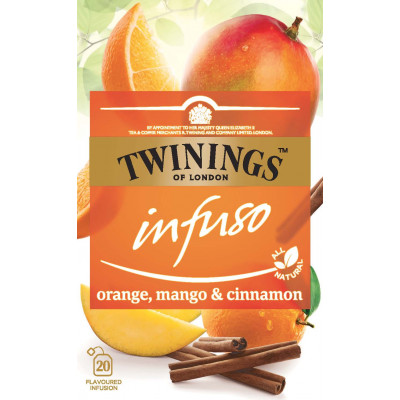 Ceai pentru infuzie cu portocala, mango si scortisoara, Twinings, 20*2 g