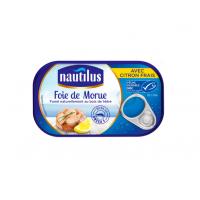 Ficat de cod afumat cu lamaie, Nautilus, 120g