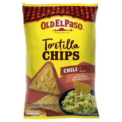 Tortilla Chips Chili, Old El Paso, 185g