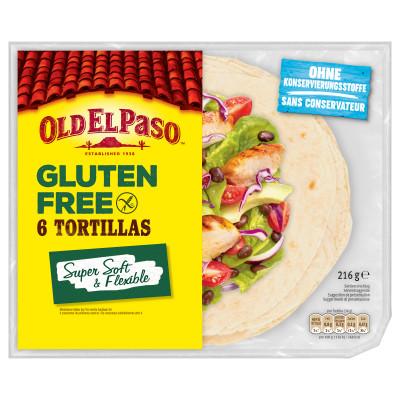 Tortillas Fara Gluten, Old El Paso, 216g