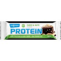 Baton proteic cu Ciocolata si Alune - Fara Gluten, Maxsport, 60g
