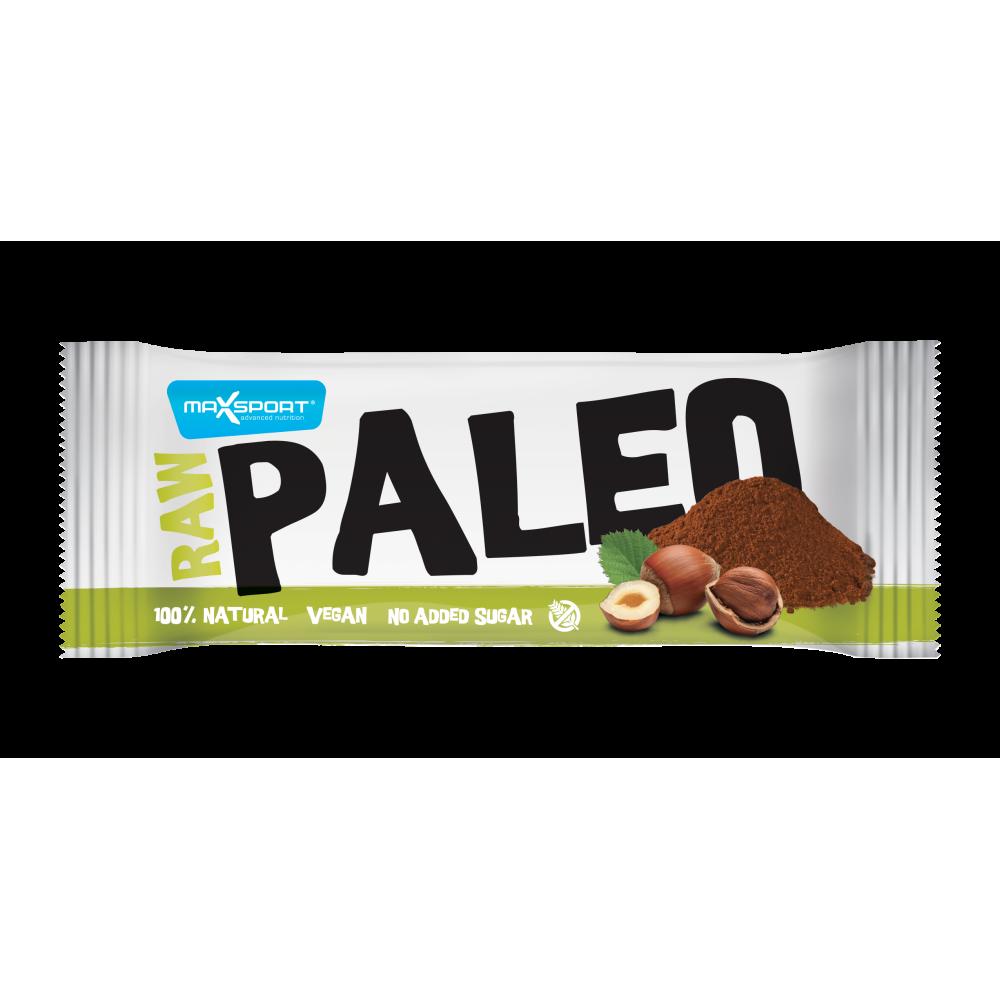 Baton RAW PALEO cu Cacao si Alune, Maxsport, 50g