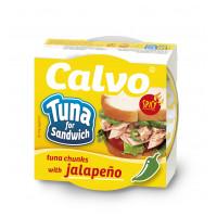 Ton pentru sandvis cu jalapeno, Calvo, 142g