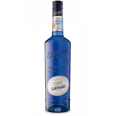 Lichior Bleu Curacao, Giffard,  25% alc., 0,7L