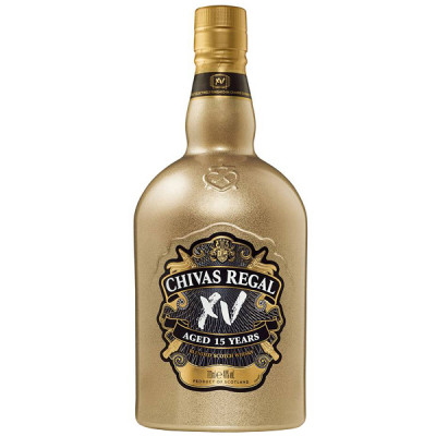 Whisky 15 years, Chivas Regal, 40% alc., 0,7L