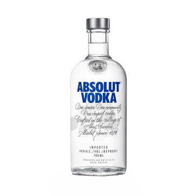 Vodka Blue, Absolut 40% alc., 0,7L