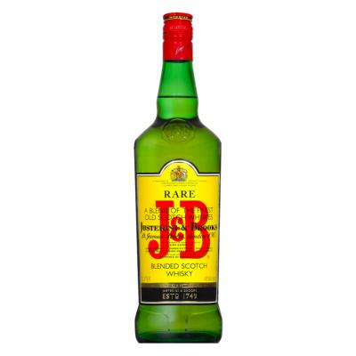 Whisky, J&B Rare, 40% alc., 1L