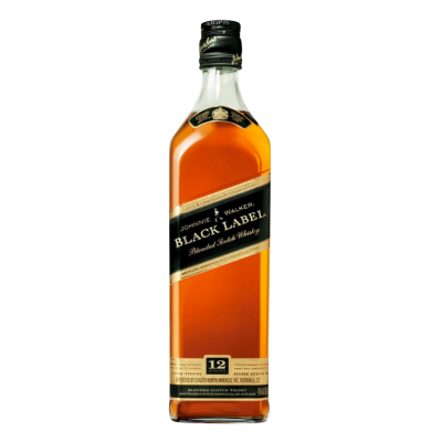 Whisky 12 years, Johnnie Walker Black, 40% alc., 0,7L