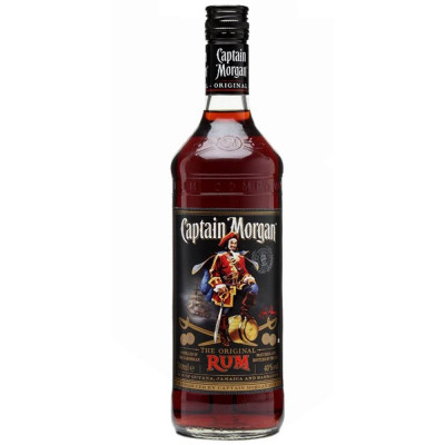 Rom, Captain Morgan Black, 40% alc., 0,7L