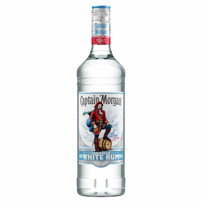 Rom, Captain Morgan White, 37.5% alc, 0,7L
