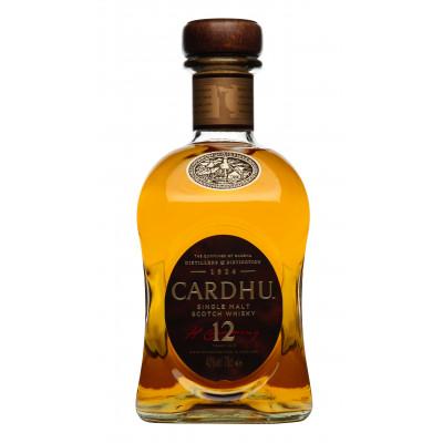 Whisky Single Malt 12 years, Cardhu, 40% alc., 0,7L
