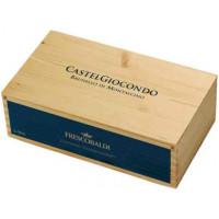 Italia - Frescobaldi - Pachet Vin Castel Giocondo Brunello Di Montalcino Rosu Docg 14,5% Alc 0.75L - 2 Sticle In Cutie Lemn