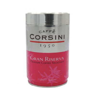 Cafea macinata Gran Riserva, cutie de metal, Caffe Corsini, 250g