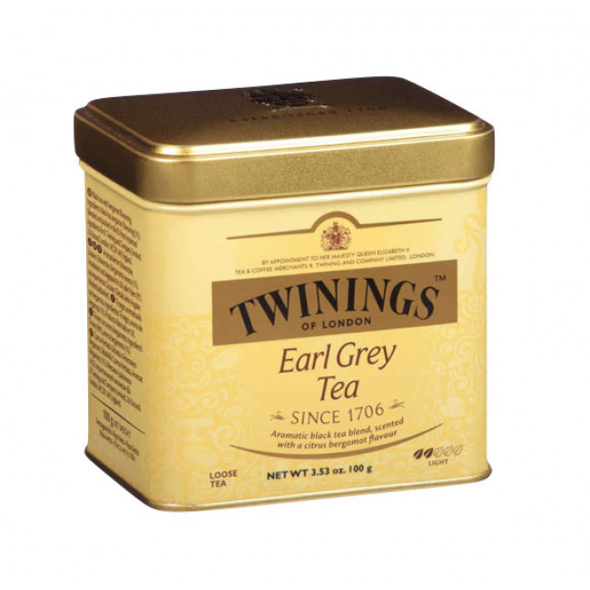 Ceai negru Earl Grey, cutie metal, Twinings, 100g