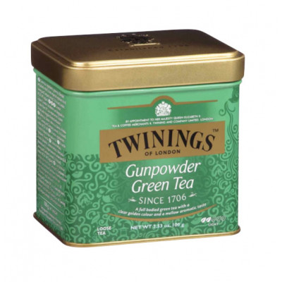 Ceai verde Gunpowder, cutie metal, Twinings, 100g