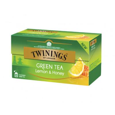 Ceai verde cu aroma de lamaie si miere, Twinings, 25x1,6g