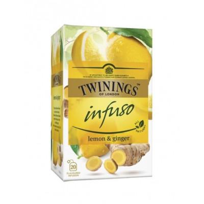 Ceai pentru infuzie cu lamaie si ghimbir, Twinings, 20x1,5g