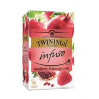 Ceai pentru infuzie cu zmeura si rodie, Twinings, 20x2g