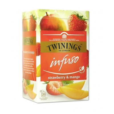 Ceai pentru infuzie cu capsuni si mango, Twinings, 20x2g