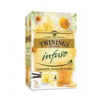 Ceai pentru infuzie cu musetel, miere si vanilie, Twinings, 20x1,5g