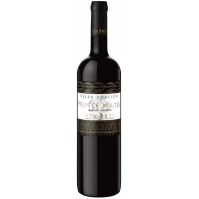 Vin Rosu de colectie Merlot Sec 2007, Prince Matei, 0,75 L