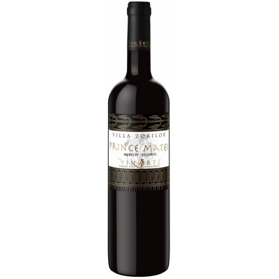 Vin Rosu de colectie Merlot Sec 2006, Prince Matei, 0,75 L