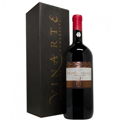 Vin Rosu de colectie Magnum Merlot Sec 2001, Prince Matei, 1,5 L