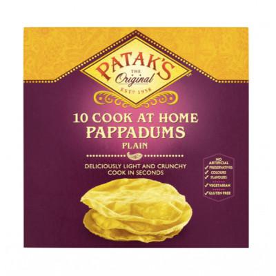 Lipie indiana Pappadums , Patak's, 100g