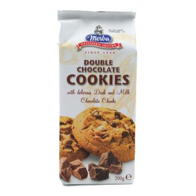Cookies cu ciocolata dubla, Merba, 200g