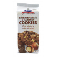 Cookies cu ciocolata neagra si alune, Merba, 200g