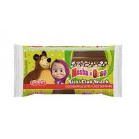 Baton de ciocolata cu orez expandat, Masha Si Ursul, 40g