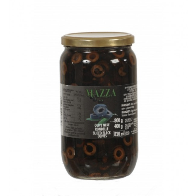 Masline negre rondele, Mazza, 800g