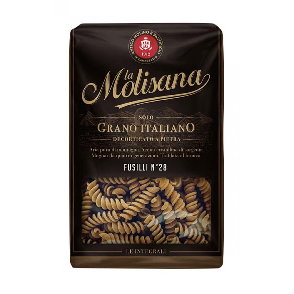 Paste integrale Fusilli No28, La Molisana, 500g