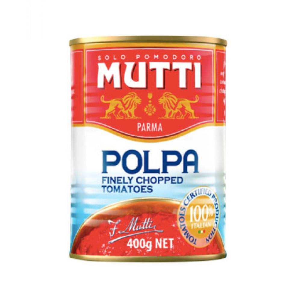 Rosii taiate fin - Polpa, Mutti, 400g