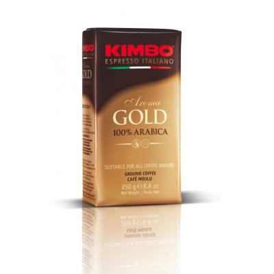 Cafea macinata Aroma Gold 100% Arabica, Kimbo, 250g