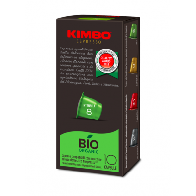 Cafea capsule Bio, Kimbo, compatibile Nespresso 10x7g