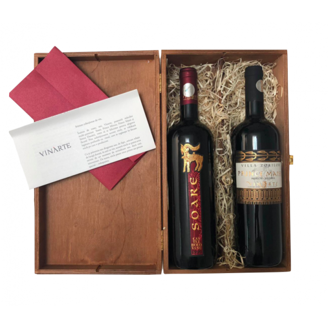 Pachet de vin rosu de colectie, Prince Matei si Soare 1999,  0,75L