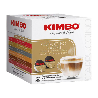 Cafea Cappuccino Capsule Dolce Gusto, 16*(8*7g + 8*14g), Kimbo