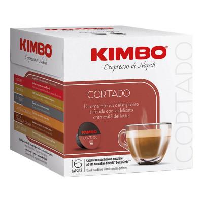 1+1 Cafea Cortado Capsule Dolce Gusto, 16*7g, Kimbo